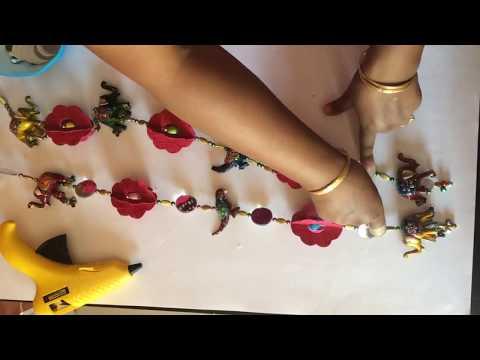 Hand made ethnic door decor 3D flowers door hanging