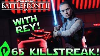 65 Killstreak With Rey In Star Wars Battlefront 2!
