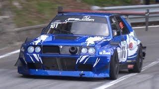 600HP Lancia Delta EVO E1 Hillclimb Monster! - Turbo Sound on Mountain Roads!