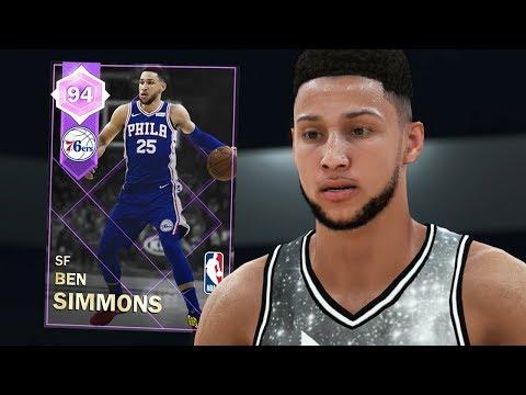 AMETHYST BEN SIMMONS GAMEPLAY!! INSANE DUNKS! (NBA 2K18 MYTEAM)