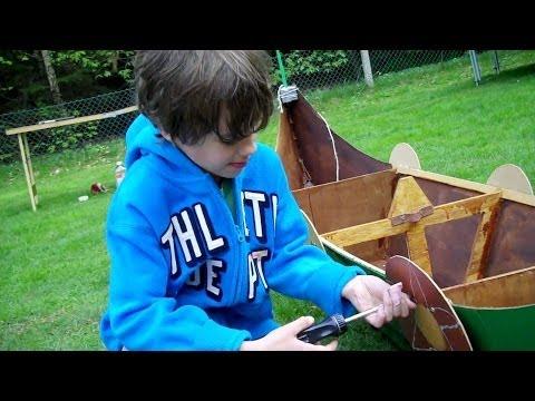 Build your own Viking Longboat using an 8x4 sheet of hardboard - part 1