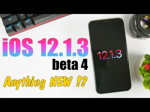 iOS 12.1.3 Beta 4 RELEASED - Anything NEW !?