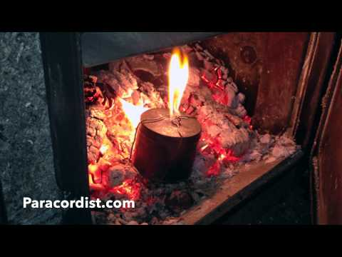 Paracordist How to Make Perfect Charred Cloth (every time) for Flint and Steel Firemaking