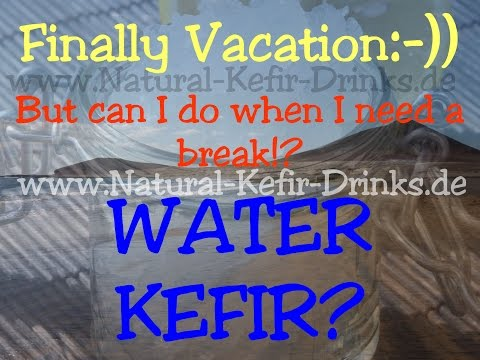 Finally vacation!? How can I store my water kefir when I need a break?