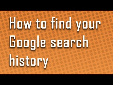 How to find your google search history