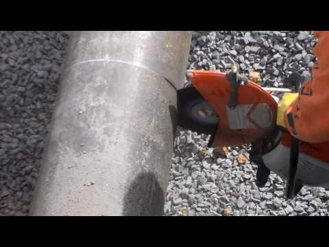 How-to: Cut-off or Chop-Saw Easily Cuts Cast Iron Pipe