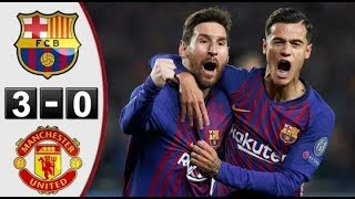 Manchester United VS Barcelona 3-0 Global 4-0 Goals Highlights | Uefa champions