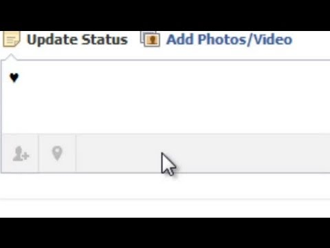How to Make a Heart in Your Facebook Status : Using Facebook