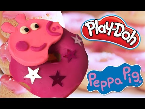 PEPPA PIG | PLAY DOH FOOD| LEARN HOW TO MAKE PEPPA PIG DONUT DOUGHNUT | VIDEO TUTORIAL FOR KIDS