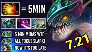 Omg 5 Min Hand Of Midas Slark Vs Counter Pick  340 Agi Cancer Gameplay By Qo 7.21 Dota 2