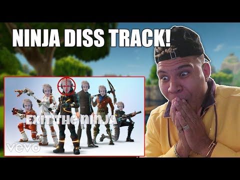 REACTING TO NINJA DISS TRACK *OFFICIAL MUSIC VIDEO* (Fortnite Battle Royale)