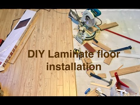 You'll be floored! Do it yourself laminate flooring.