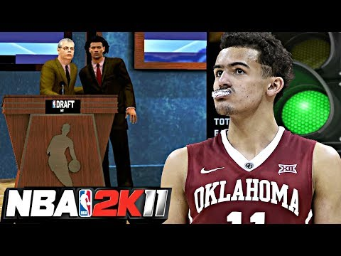 NBA 2K11 MyPLAYER TRAE YOUNG #5 - THE NBA DRAFT! GETTING DRAFTED TO THE PERFECT TEAM TO THROW LOBS!