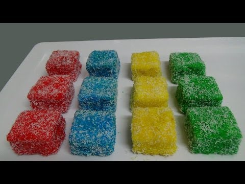 rainbow lamingtons