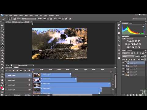Adobe Photoshop Video & Animation Tutorial | Adding Assets To A Project