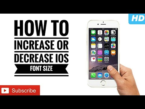 How To: Increase or Decrease Font Size on any iOS Device!