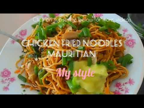 Mauritian Chicken Fried Noodles |Less Oily In My Style|