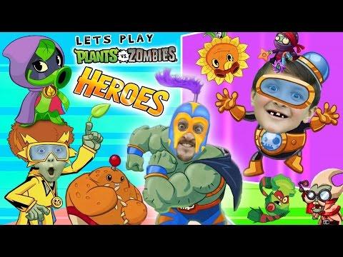 PVZ HEROES w/ Mike, Lex & FGTEEV Duddy (NEW! Plants vs. Zombies Mobile Super Hero Card Game)