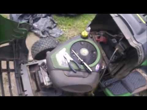 How to Remove Install Dual Intake Port Cover on John Deere LA100 Riding Lawnmower