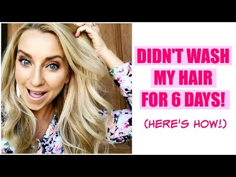 Didn't Wash My Hair for 6 Days! (SAFE Dry Shampoo Hair Tips!)