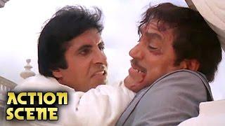 Amitabh Bachchan KILLS Amrish Puri   Action Scene   Aaj Ka Arjun   Amitabh Bachchan, Jaya Prada   HD