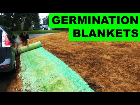 Using Germination Blankets to Grow Grass Seed on a Hill