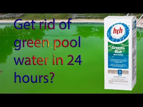 Green Pool Water to Blue - Get rid of algae with the HTH Green to Blue Shock System