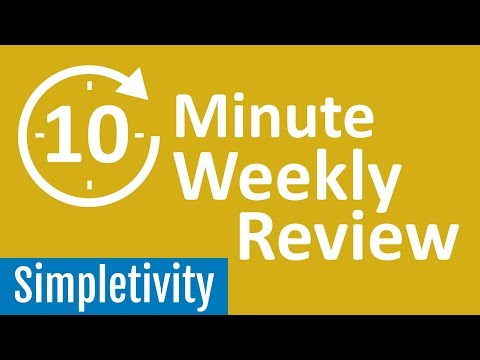 10 Minute Weekly Review 📅 (Guided Productivity)