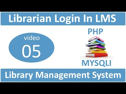 librarian login in library management system in PHP