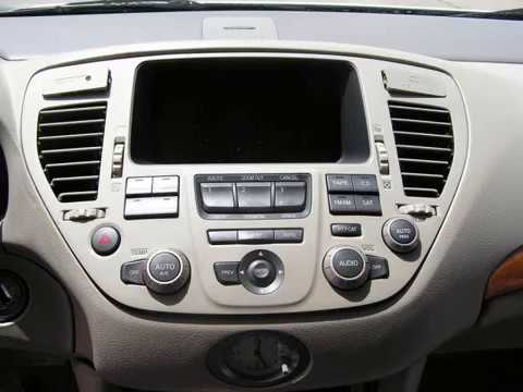 Infiniti Q45 CD Player and Display Removal