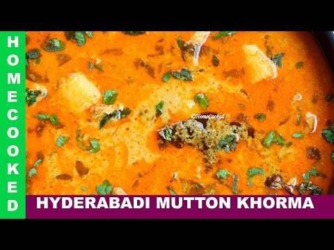 Hyderabadi Mutton Korma - Mutton Korma Recipe Video Hyderabadi bakra eid homemade