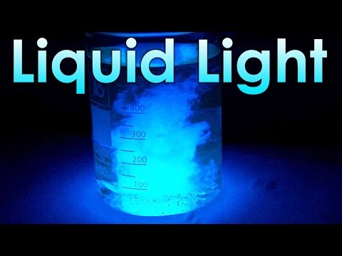 Liquid Light - Chemical Reaction with Luminol