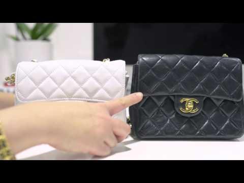 chanel fake vs real 7 inch bag
