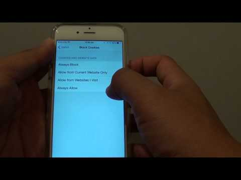 iPhone 6: How to Enable / Block Website Cookies in Safari