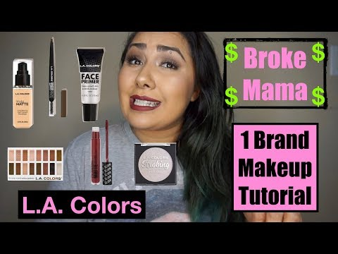 Broke Mama 1 Brand Makeup Tutorial-L.A Colors