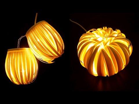 Paper cup light decor - Striped lantern & Chrysanthemum - EzyCraft