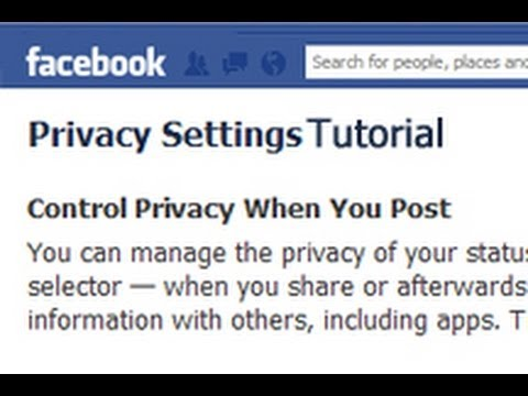 2012 Facebook Privacy Settings Walk-Through - Tutorial - How To Facebook Profile Privacy Settings
