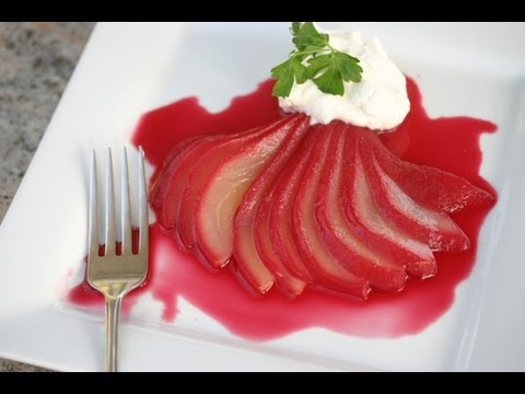 How To Make Poached Pears With A Vanilla Cinnamon Syrup By Rockin Robin