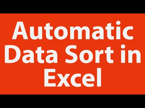 Automatic data sort in MS-Excel
