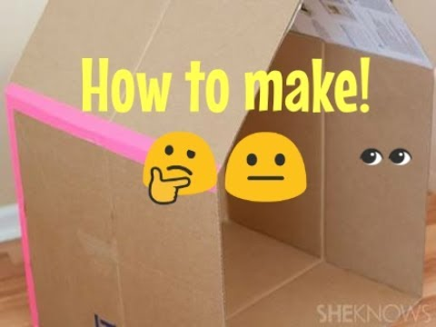 How to make a CARDBOARD BOX HOUSE|SUPER EASY!👤💪
