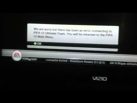 FIFA 12 ultimate team error