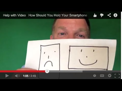 How to Hold Your Smartphone When Recording YouTube Video