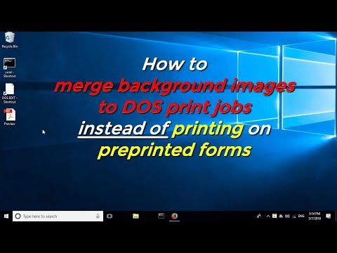 Merge images to DOS print jobs instead of printing on preprinted forms