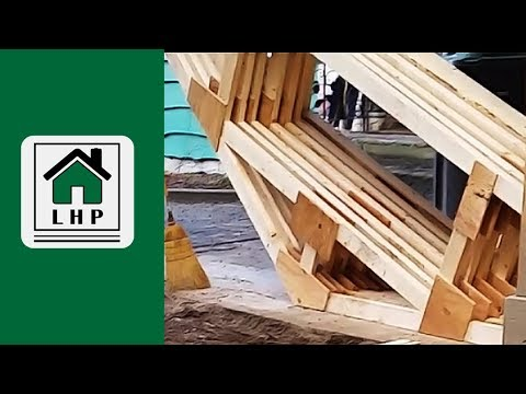 Homemade Shed Trusses Built for Storage - LHP