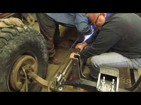 Military Rat Rod Front Suspension Install Part 2