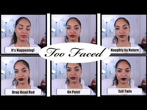 💋 LIP SWATCHES  | TOO FACED Melted Matte Liquified Matte Lipsticks 💋