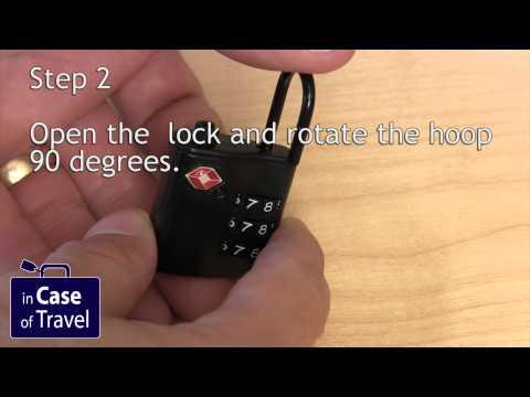 How to set the code on a Samsonite padlock