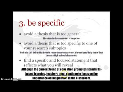 Argument Thesis Statements