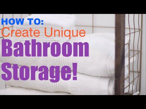 HOW TO: DIY BATHROOM MAKEOVER 5 | Create Unique Bathroom Storage