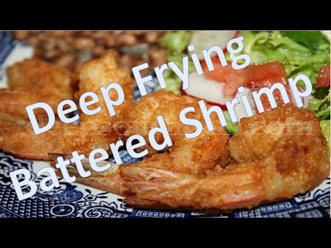 Deep frying battered shrimp - how to make a deep-fry batter with pancake mix : fry it up!